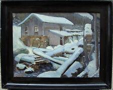 Carl-Otto Elliot 1875-1956, Wassermühle im Schnee, datiert 1913