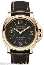 PANERAI PAM 511 Luminor Marina Brown Dial 18kt Rose Gold Mens Watch