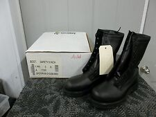 ADDISON MEN BOOT BLACK SAFETY SHOE STEELTOE SIZE 5 N NARROW WORK ADULT NEW