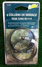 Colliers de serrage pour tuyau de 35 a 45 mm le lot de 4 sous blister