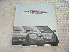 PORSCHE OFFICIAL 944 964 911 TURBO 928 PRESTIGE SALES BROCHURE 1991 USA EDITION