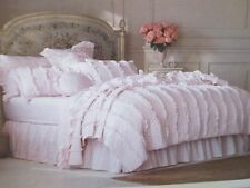 NWT Simply Shabby Chic Ruffle Quilt KING Light Pink 100% Cotton NEW BEAUTIFUL