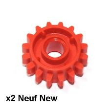 Lego Technic 2 engrenages 16 dents rouges / Red Gear 16 Tooth clutch NEW 18946