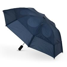 "Gustbuster Metro Dual Canopy Collapsible Windproof 43"" Umbrella Navy Wind Proof"