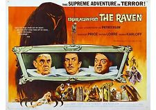 The Raven (2) - Vincent Price - Boris Karloff - A4 Laminated Mini Poster