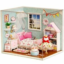 Flever Dollhouse Miniature DIY House Kit Creative Room Bedroom Cover