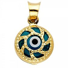 14K Yellow Gold Evil Eye Pendant GJPT1716