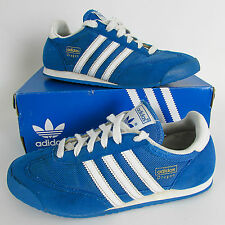 ADIDAS DRAGON Originals Size UK 5.5 BLUE & WHITE TRAINERS SHOES