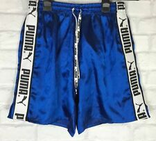 VINTAGE RETRO SHINY PUMA SPRINTER RUNNING SHORTS SPORTS IBIZA RETRO UK S