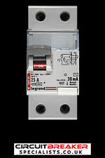 LEGRAND 25 AMP 30 MA DOUBLE POLE RCCB RCD 089 09