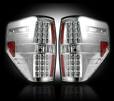 2009-2014 Ford F-150 & SVT Raptor Rear LED Tail Lights Lamps Clear Lenses