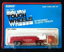 KIDCO TOUGH WHEELS 1980 FIRE ENGINE WITH LADDER RIG COMBO 1/100 - MOC