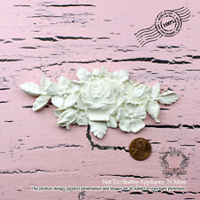 Shabby Chic Rose center with Leaves Furniture Appliques Free Shipping