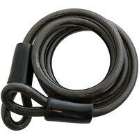 1.5M HEAVY DUTY STRONG SECURITY CABLE PVC COATED GATE SHED CYCLE BIKE MOTORBIKE