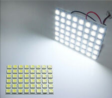 10X 48-SMD LED Panel White Car Dome Map Interior Light T10 1156 BA15S Adapter