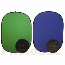 PhotoSEL BD113GU Chroma Key Green & Blue Photo Collapsible Background 1.5m x 2m
