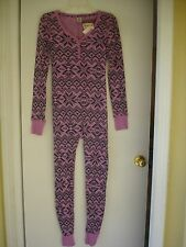 NWT Victoria's Secret Pink Thermal Long Jane Onesie Pajama PJ S isle one piece
