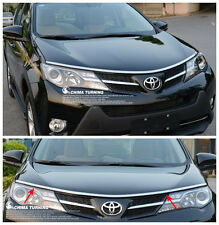 For Toyota RAV4 2013 2014 + ABS Chrome Front Grille Around Hood Trim New