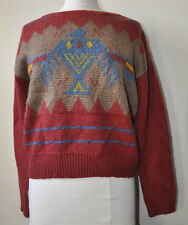 Urban Outfitters Ecote Rust Eagle Indian Aztec Tribal Sweater Size Medium Bird