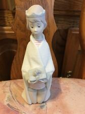 Lladro 4673 King Melchior Matte! RETIRED! Head broken off, repaired! No Box!