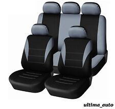 9 PCS FULL GREY FABRIC SEAT COVERS SET TOYOTA YARIS AVENSIS RAV4 AURIS COROLLA