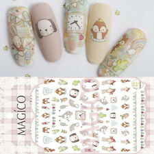 1Sheet 3D Nail Art Sticker Adorable Animal Ultrathin Adhesive Decal Decoration