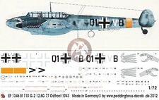 Peddinghaus 1/72 Bf 110 G-2 Totenhand Markings 12./StG 77 Russia 1943 WWII 1346