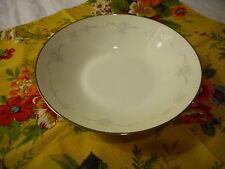 Soup Bowl Noritake China Casablanca (#6842) Pattern Platinum Trim Gray Flowers