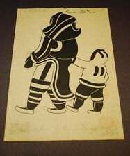 "Enook Manomie  ""MOTHER AND SON""  SIGNED 1979 Silk Screen  ART CARD PRINT"