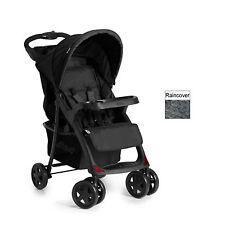 New Hauck shopper Neo II  pushchair buggy pram+raincover in Caviar black Stone