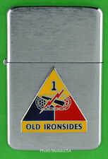 1st ARMORED DIVISION WINDPROOF PREMIUM LIGHTER &GIFT BOX ARMY ACR SBC132