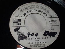 Teen DICK RICHARDS Blue-Jean Baby/We've Got a Right To Love 45 Promo Columbia