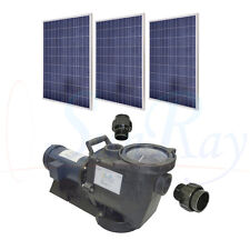 SOLAR POOL PUMP SolFlo1 with 750w PV SOLAR POWER - 1HP DC POOL PUMP from SunRay