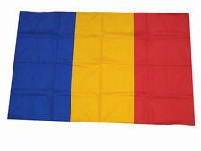 Bandiera Romania 110 cm x 140 cm cucite a mano + bandella Made in Italy