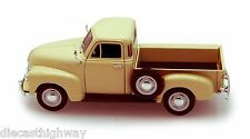1953 Chevrolet 3100 Pick Up 1:24 Scale Diecast Model - Welly - 22087/4D-2 Cream