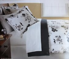 MAINSTAYS BLACK And White Floral Queen Size 7 PIECE BEDDING SET