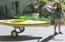 Fat-tire folding cart for canoe, kayak, boat.  Strong. ( Dolly, trolley, kart )