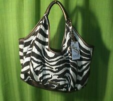 "KATHY VAN ZEELAND LUXURY COLLECTION ""VAGABOND"" ZEBRA & BRONZE HANDBAG ~ NWT"