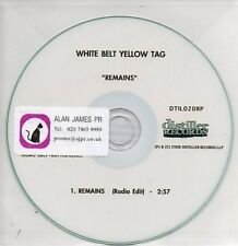 (AA925) White Belt Yellow Tag, Remains - DJ CD