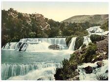 Sebenico Middle Falls Of The Kerka Dalmatia A4 Photo Print