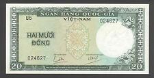 South Vietnam 20 Dông 1964 AU-UNC   P. 16,    Banknotes, Uncirculated