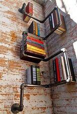 vintage industriellen stil verzinkter stahl rohr wall hanging buch regal regalen
