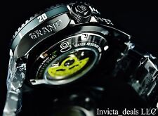 New Invicta 300M Triple Black Combat Grand Diver Automatic 3D Case & Dial Watch