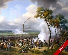BATTLE OF HANAU CAVALRY CHARGE PAINTING NAPOLEON FRENCH WAR ART CANVAS PRINT