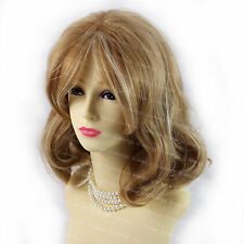 Natural Curly Strawberry Blonde mix Pale Blonde Medium Lady Wig from WIWIGS UK