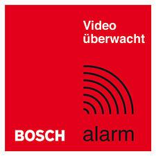 2x Bosch Haus Videoüberwachung Aufkleber Alarmanlage Einbruchschutz Objektschutz