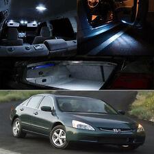 03-07 Honda Accord White Interior Xenon LED Bulb Package Coupe Sedan EX LX DX