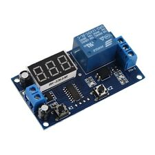 DC 12V Digital Display Trigger Cycle Time Delay Relay Module Board UL