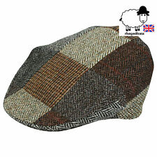 Genuine Harris Tweed Patchwork Cap M,L,XL,XXL