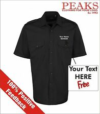 PERSONALISED Premium Short & Long Sleeve Pilot Shirts, in 3 Colours & 10 Sizes!!